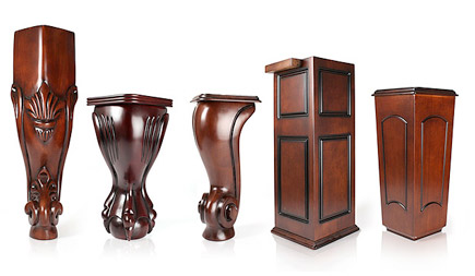 decorative wood legs