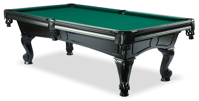 Amboise oak black finish modern billiard table by majestic - Pool table green felt ...