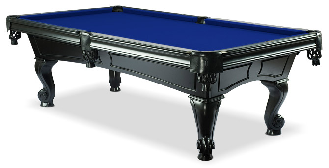 With Purple Felt · Amboise Oak Black Pool Table With Euro Blue Felt ...