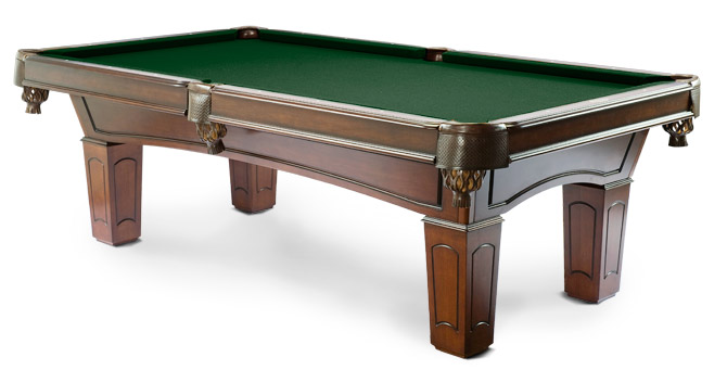 With Taupe Felt · Ascot Walnut Pool Table With Bottle Green Felt ...