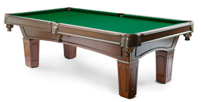 Pool tables in canada ascot walnut by majestic billiards - Pool table green felt ...