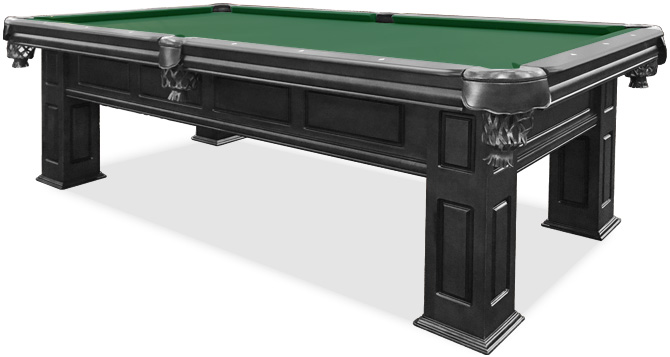 Frontenac Black Pool Table With Basic Green Felt ...