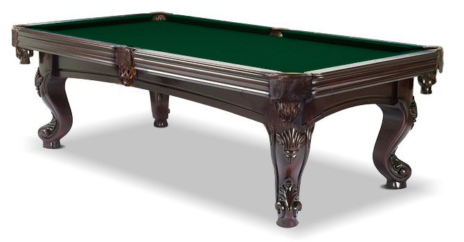 With Championship Green Felt · Majestic Mahogany Pool Table With Dark Green  Felt ...
