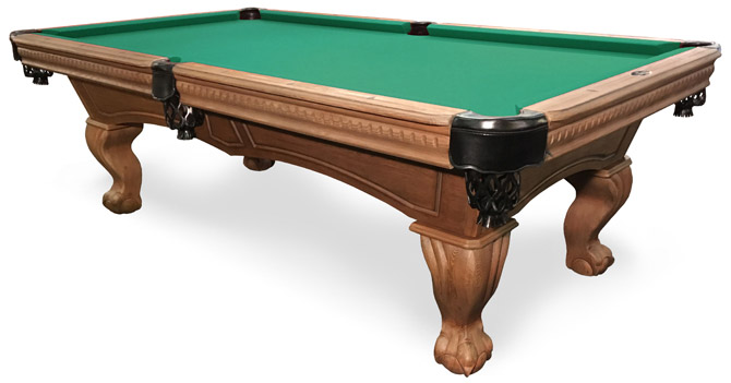 Sutton Rustic Walnut Pool Table