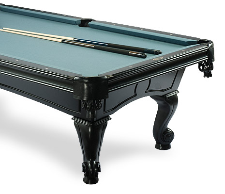 Amboise Oak Black Pool Table