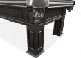 Close Up Details of Frontenac Black Pool Table