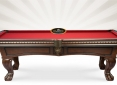 Close Up Details of Pinnacle Walnut Pool Table