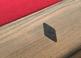 Close Up Details of Sutton Rustic Walnut Pool Table
