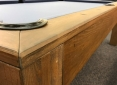 Close Up Details of Mensa Rustic Walnut Pool Table